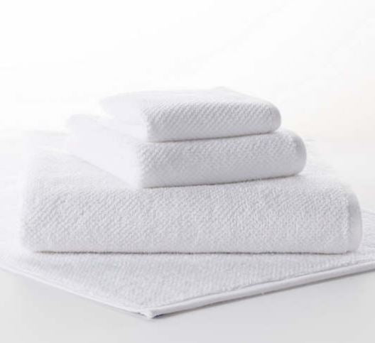 Pin Dot Terry White Towels - Multiple Sizes
