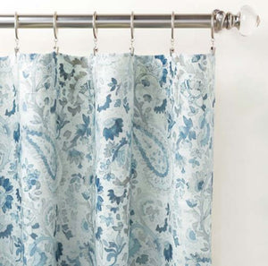 Ines Linen Blue Panel - Multiple Sizes