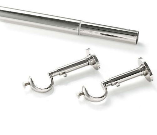 Stockbridge Rod - Polished Nickel