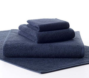 Pin Dot Terry Navy Towels - Multiple Sizes