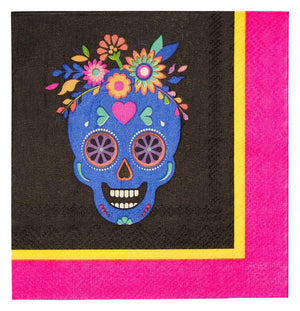 Day of the Dead Paper Cocktail Napkin