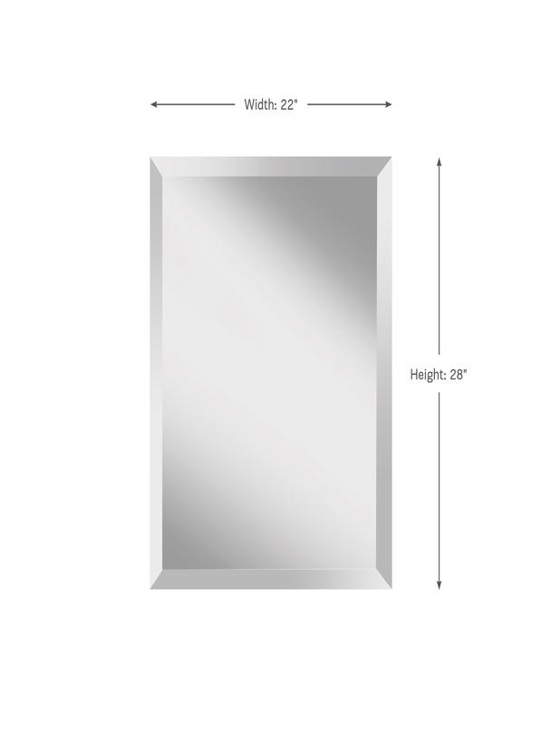"22"" x 28"" Rectangle Mirror"