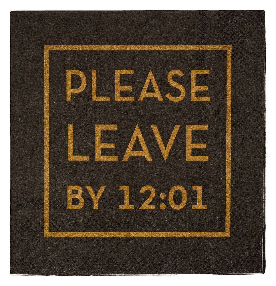 Cocktail Napkin - Please Leave