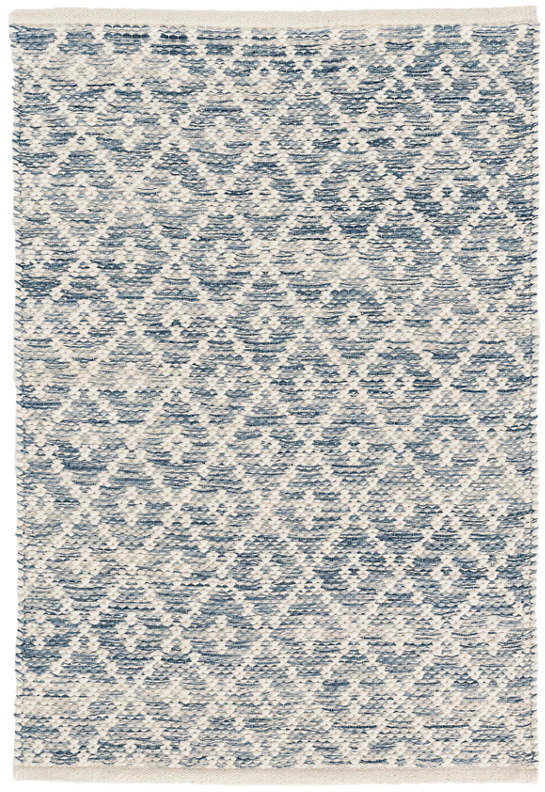 Melange Diamond Blue Rug