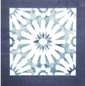 Load image into Gallery viewer, Cocktail Napkin - Indigo Batik