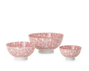 Kiri Bowl - Red/Red Trim