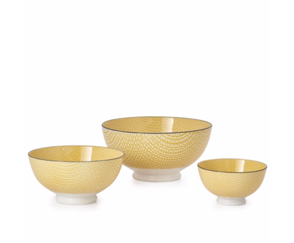 Kiri Bowl - Yellow/Black Trim
