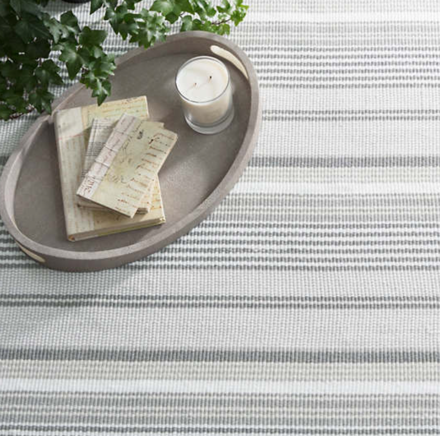 Gradation Ticking Cotton Rug - Multiple Sizes