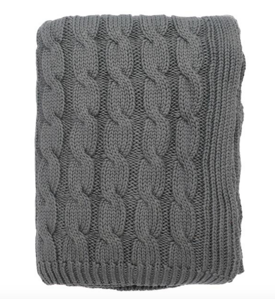 Big Cable Throw - Grey