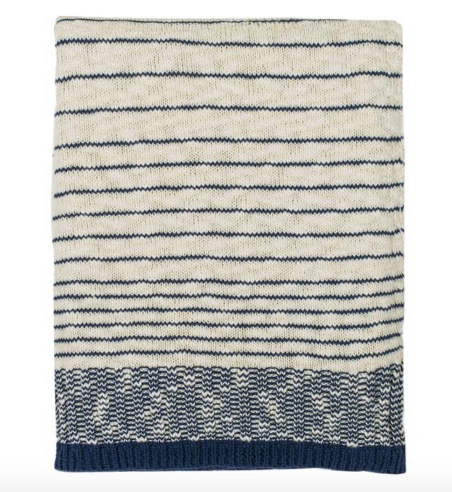 Casa Throw - Nat/MidBlue