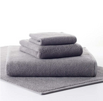 Pin Dot Terry Grey Towels - Multiple Sizes