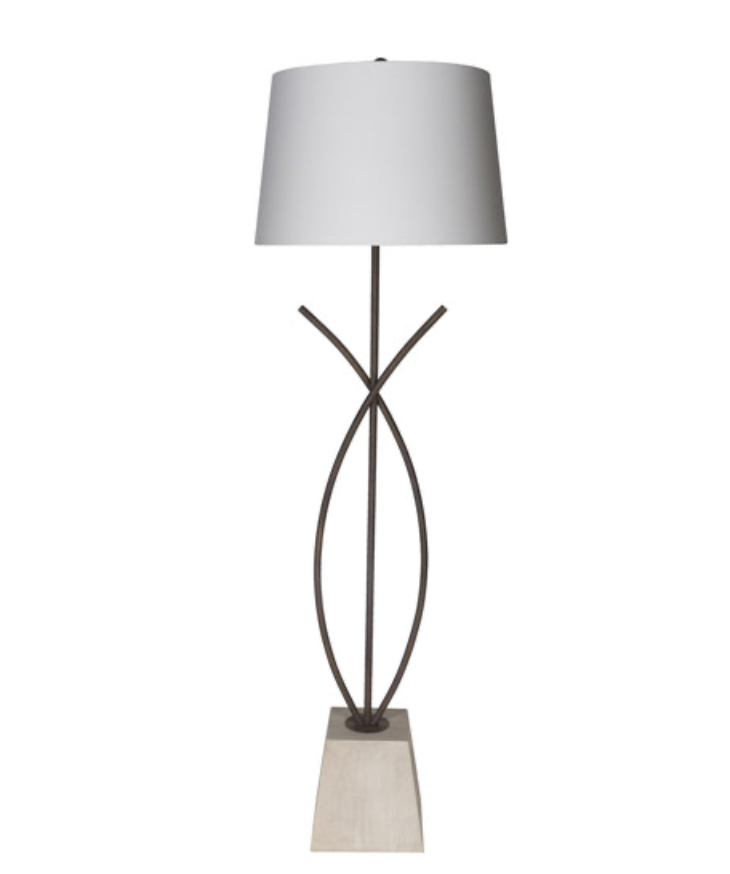 "64"" Wyatt Floor Lamp - White"