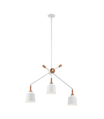 Danika 3 Light Pendant - White