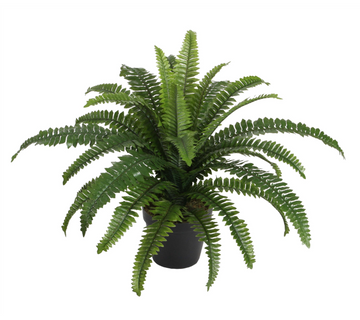 Large Faux Boston Fern w/ Pot