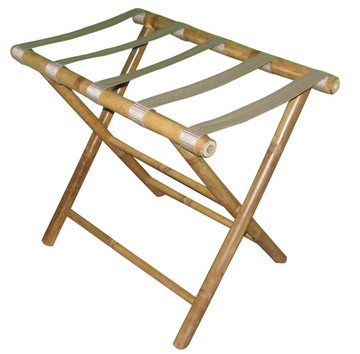Bamboo Luggage Stand