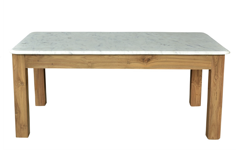 Load image into Gallery viewer, Teak & Marble Coffee Table