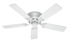 "52"" Low Profile III Fan - Wh"