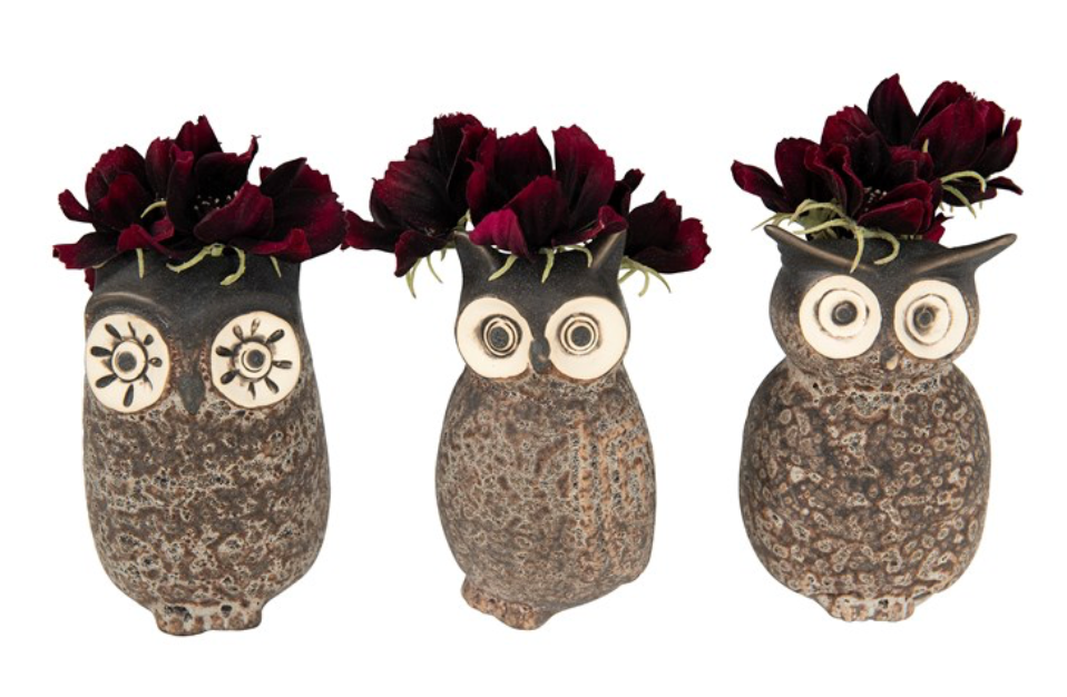 Load image into Gallery viewer, Stoneware Owl Vase