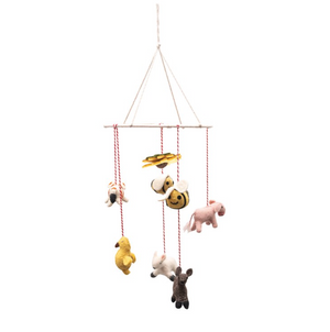 Wool Felt Farm Animal Mobile