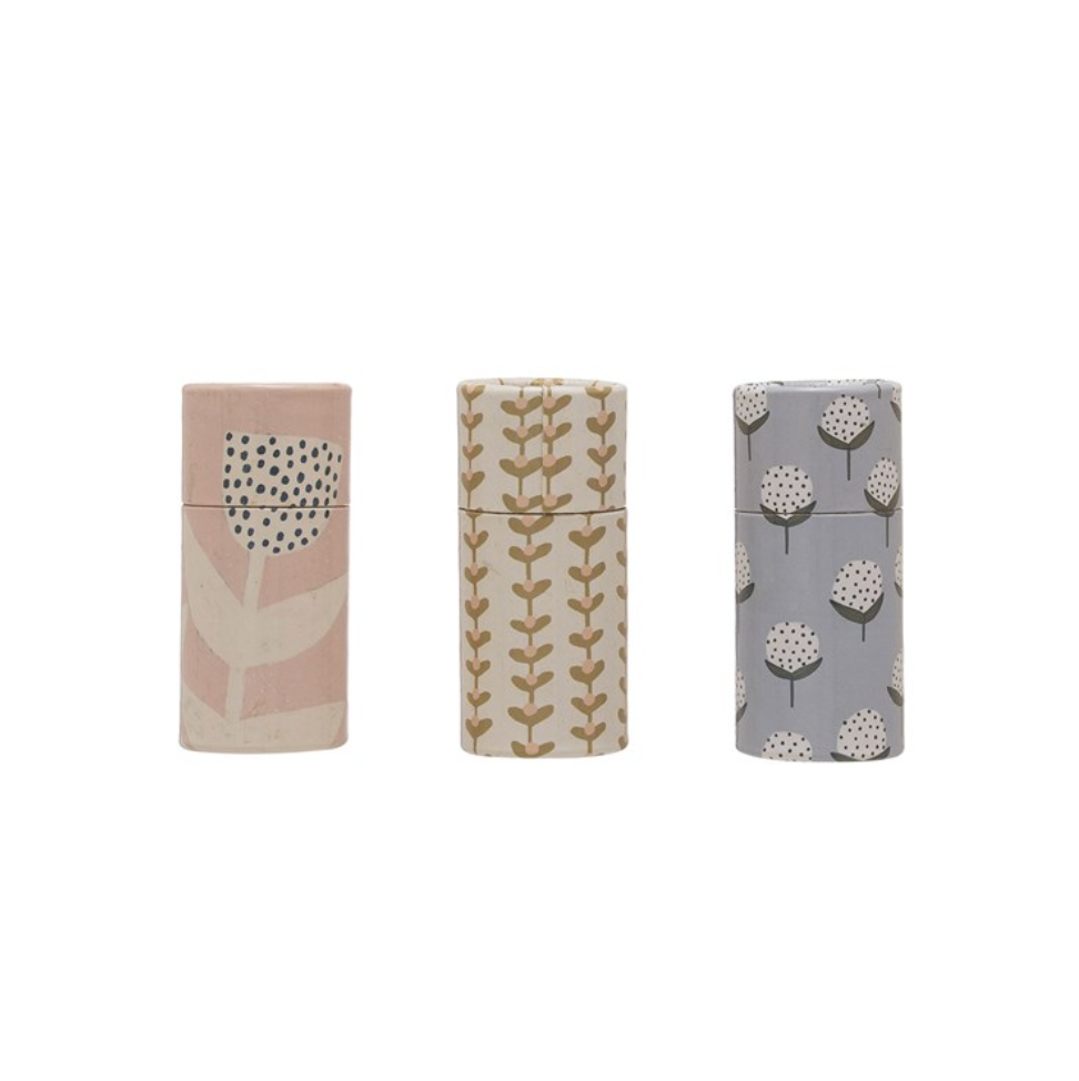 Tube Matchbox Matches - Floral
