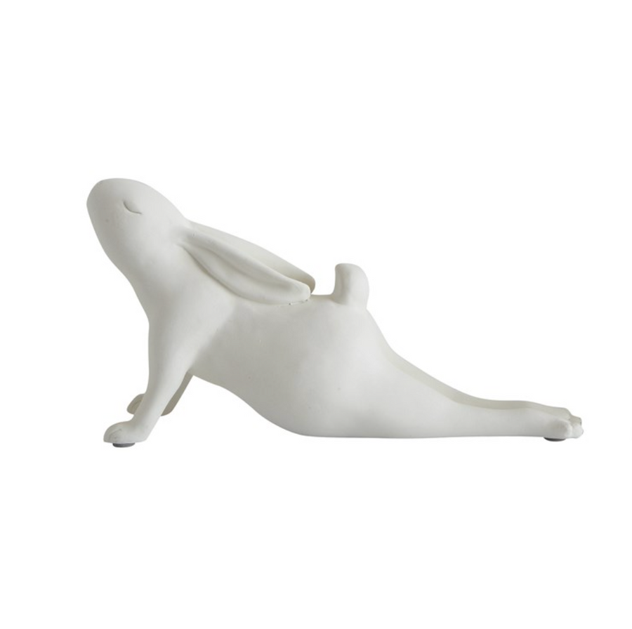 Resin Arching Yoga Rabbit