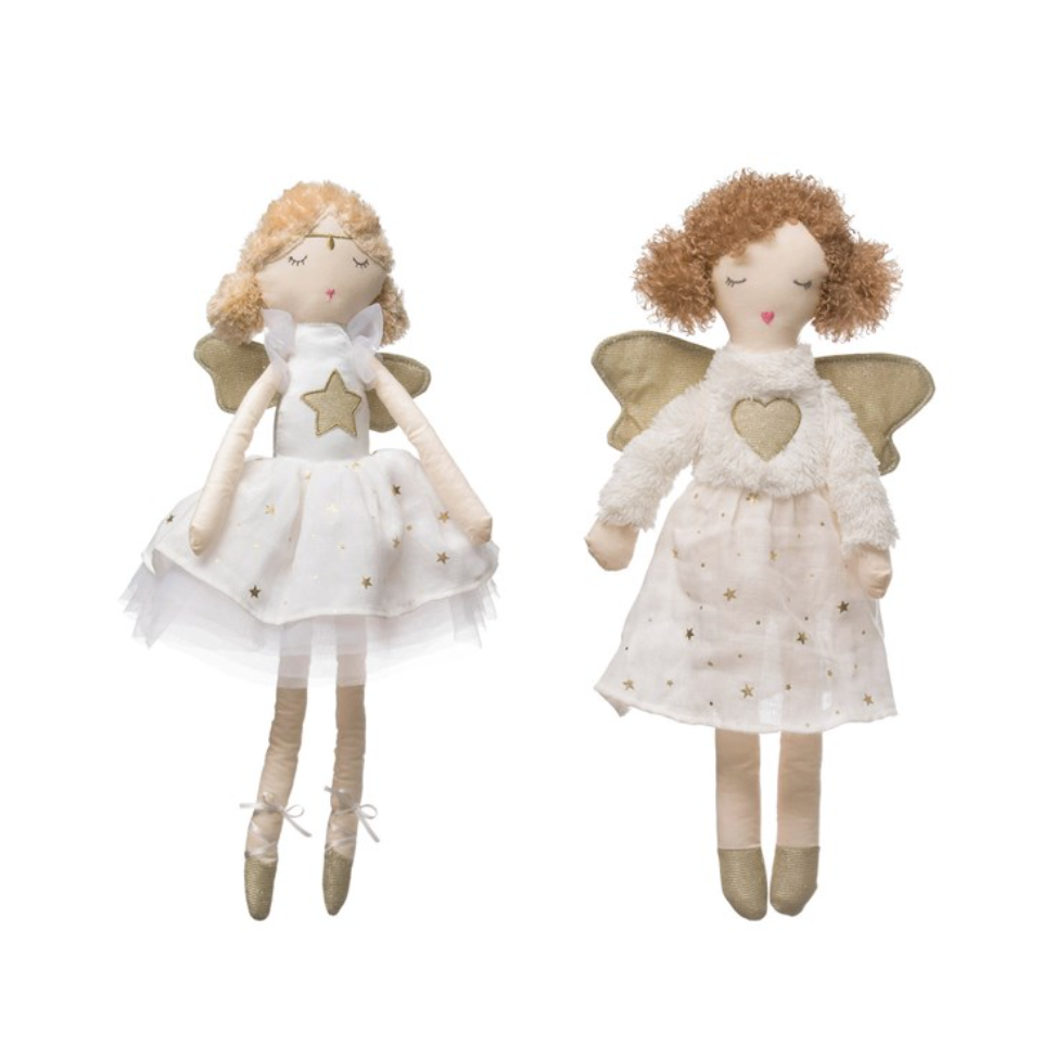"18"" Plush Angel w/ Gold Wings"