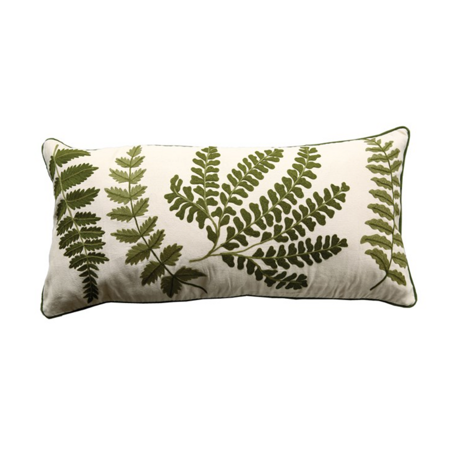 Bolster w/ Fern Fronds Pillow