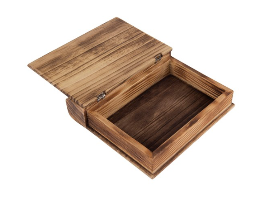 Load image into Gallery viewer, Wood Book Box