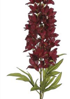 "Load image into Gallery viewer, 30"" Larkspur Spike - Burgundy"