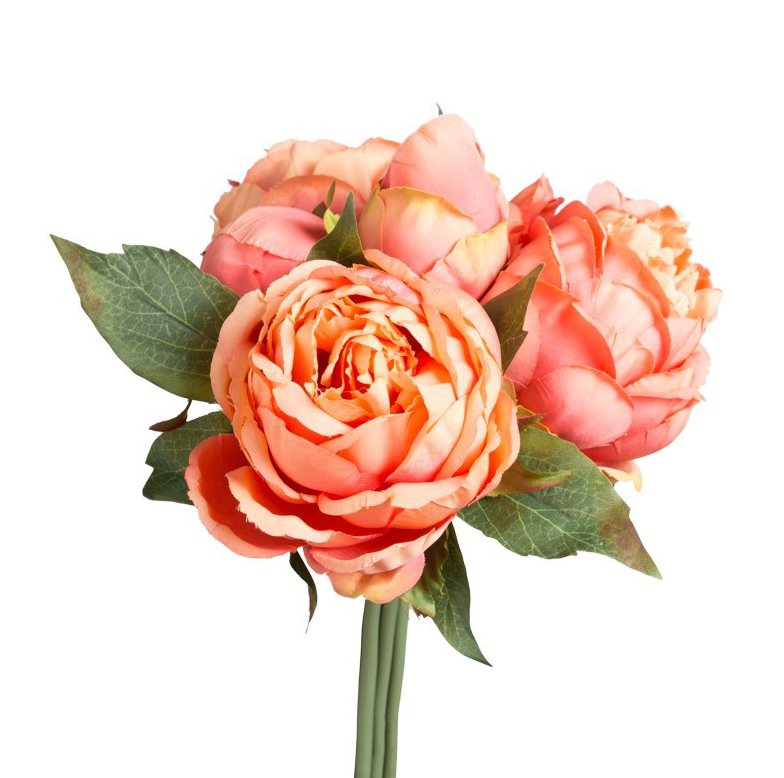 Blushing Peony Bouquet- Orange
