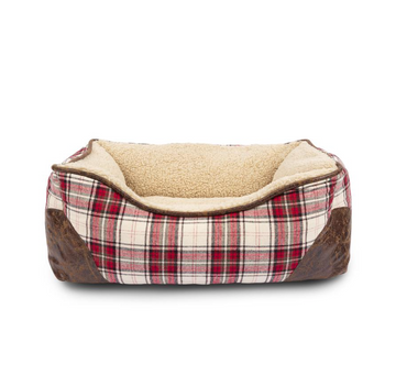 Cabin Plaid Cuddler Bed - Sm