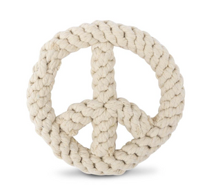 Peace On Earth Rope Dog Toy