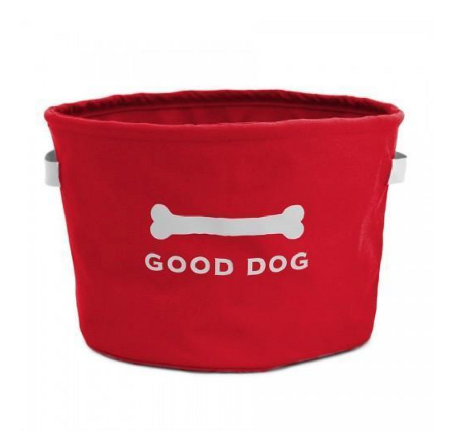 Good Dog Toy Bin - Red