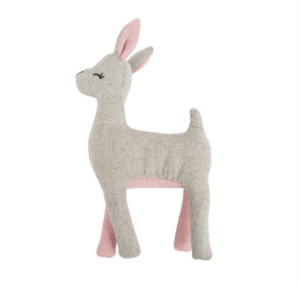 Herringbone Deer Plush Dog Toy