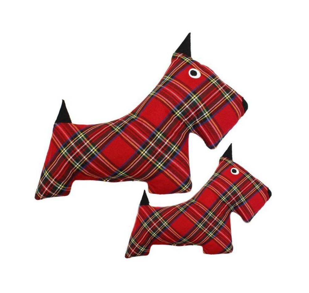 Plaid Scottie Toy - Multiple Sizes
