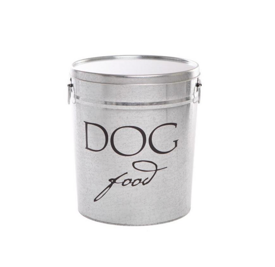 Silver/White Food Storage Can - Multiple Sizes
