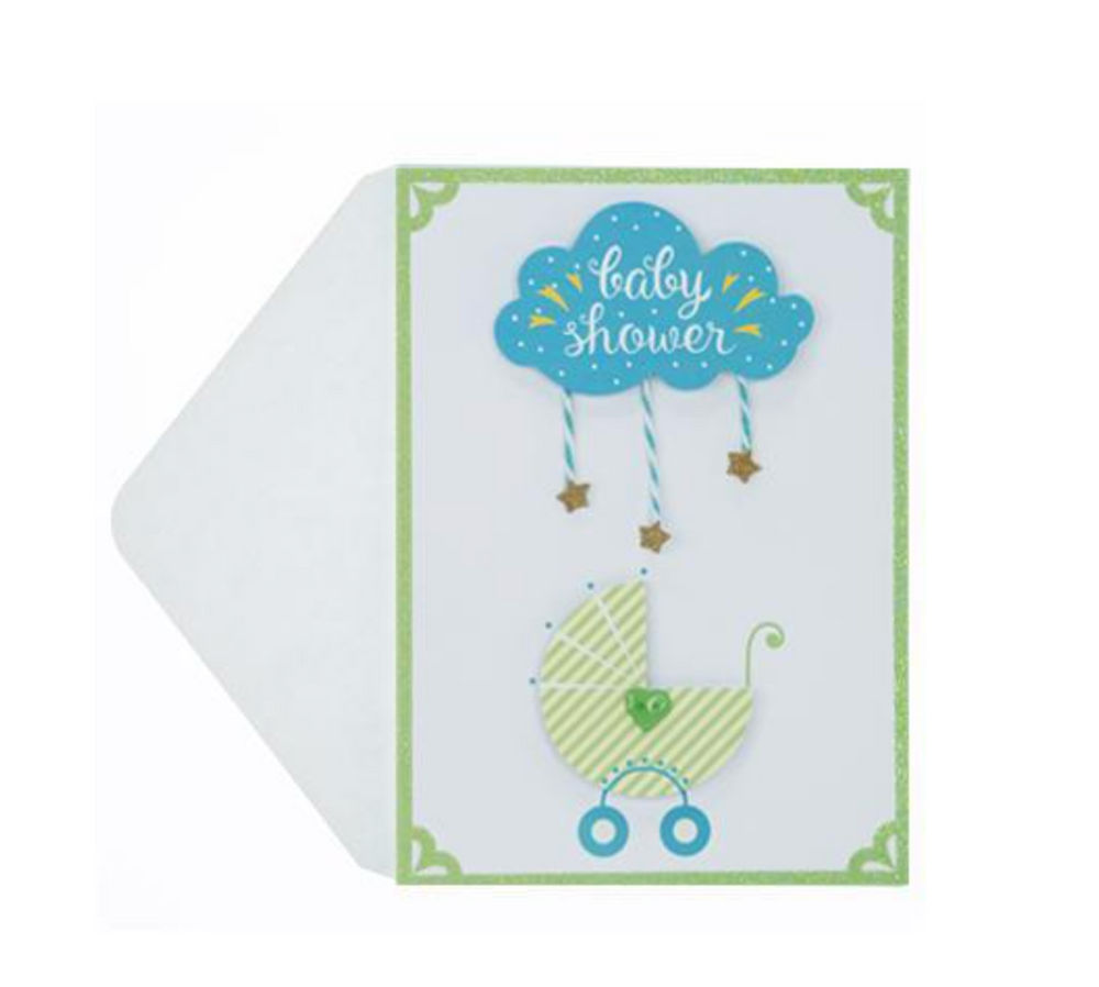 Load image into Gallery viewer, Baby Carrriage Handmade Card