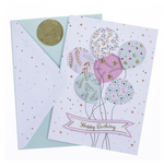 Floral Balloons Birthday Card