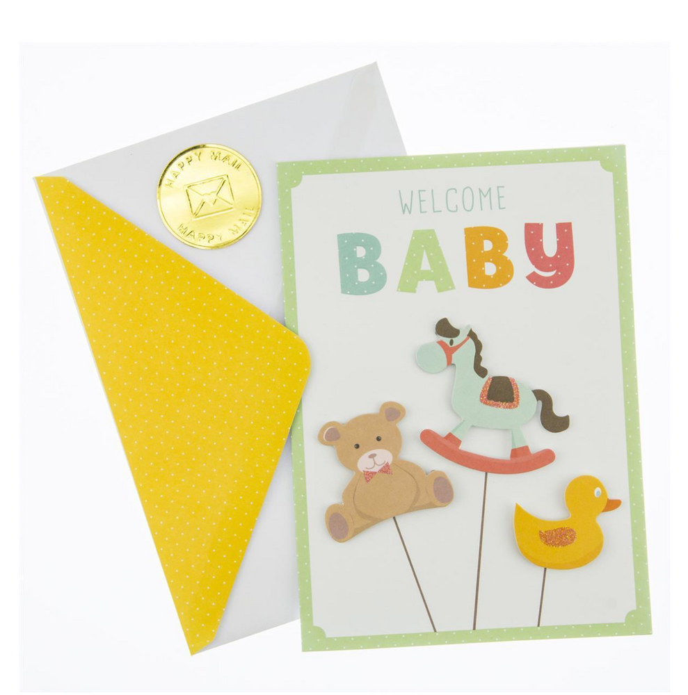 Baby Animals Baby Card