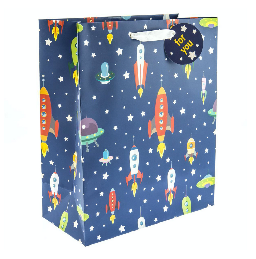 Rocket Ships Gift Bag - Large