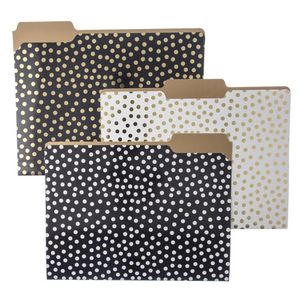 Gold Dots File Folders