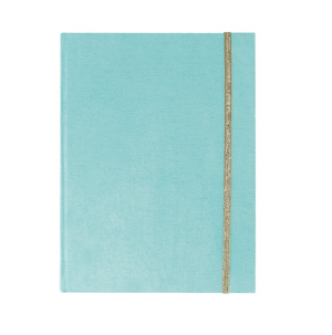 Blue Suede Hardbound Journal