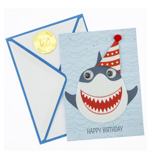 Load image into Gallery viewer, Shark Bite Birthday Card