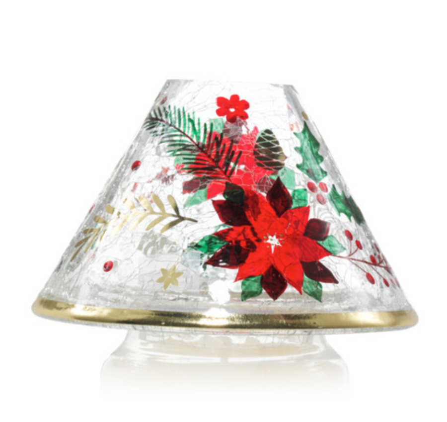 Poinsettia Jar Candle Shade