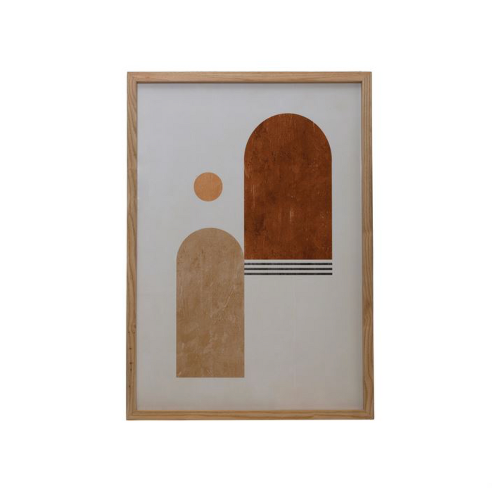 Wood Framed Wall Art -Abstract
