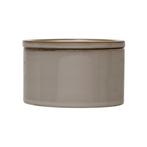 "Load image into Gallery viewer, Stoneware Canister 5.5""  -Cream"