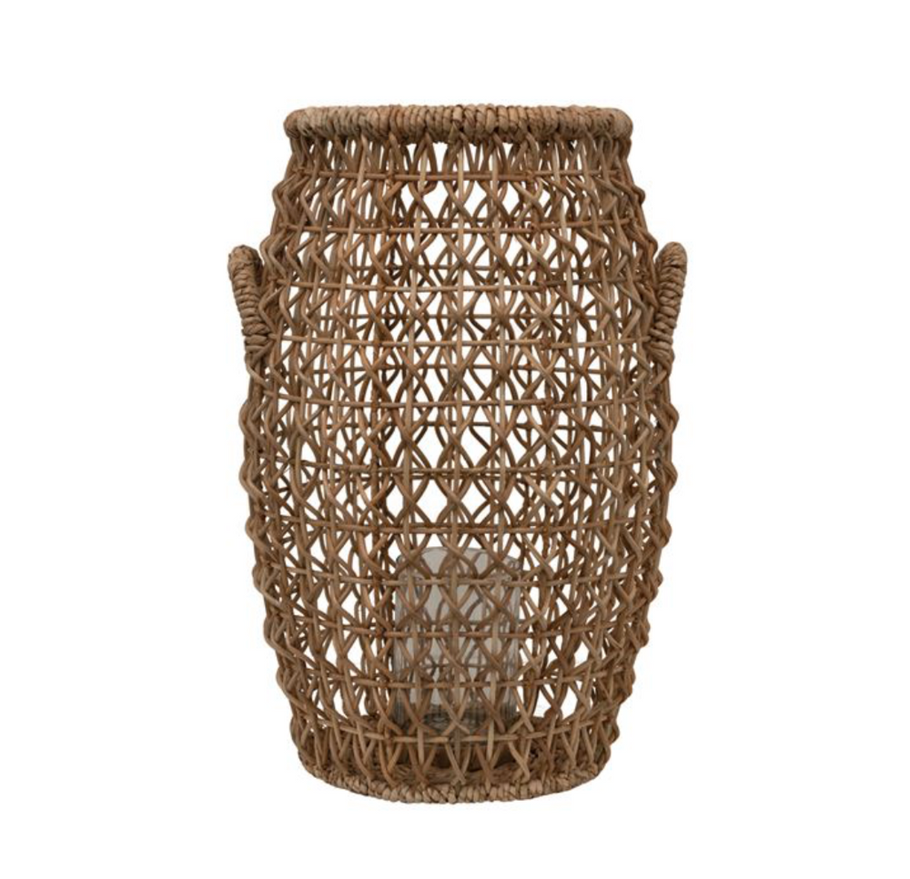 Load image into Gallery viewer, Water Hyacinth Lantern 15""