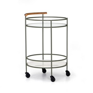 Dempsey Bar Cart - Sage Green