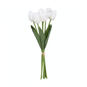 "18"" Tulip 6 Stem Bouquet - Wh"