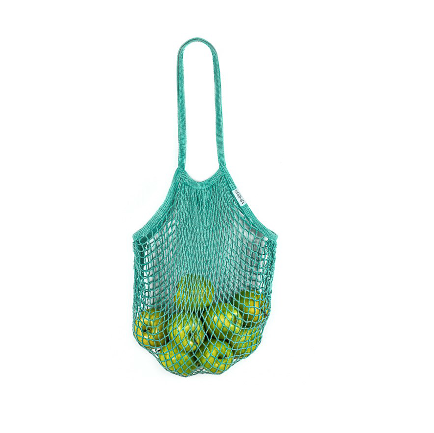 Load image into Gallery viewer, Karma Reusable Mesh Tote -Blue